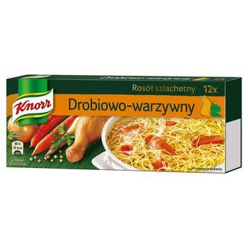 Knorr Rosół szlachetny drobiowo-warzywny 120 g (12 kostek)