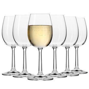Komplet Kieliszków do Wina Białego KROSNO Pure 250 ml 6 sztuk
