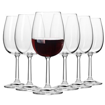 Komplet Kieliszków do Wina Czerwonego KROSNO Pure 350 ml 6 sztuk