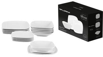 Komplet Obiadowy Moss Porcelanowy 18 elementów