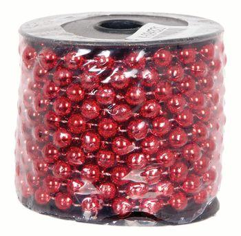 Korale na szpuli Jumi 8mm x 10m czerwone
