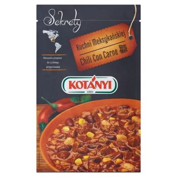 Kotányi Sekrety Kuchni Meksykańskiej Chili Con Carne Mieszanka przypraw 25 g