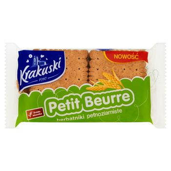 Krakuski Petit Beurre Herbatniki pełnoziarniste 50 g