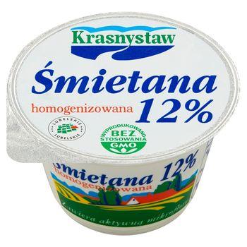 Krasnystaw Śmietana 12 % homogenizowana 150 g