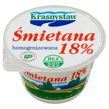 Krasnystaw Śmietana 18 % homogenizowana 150 g