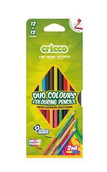 KREDKI DWUSTRONNE CRICCO 12 kolorów