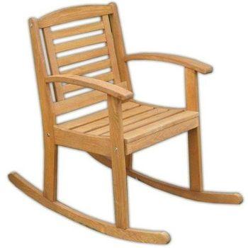 Krzesło Bujane Kabex z Drewna Sosnowego