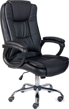 Fotel Biurowy Obrotowy Ts Interior Baron Ekoskóra Czarny