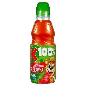 Kubuś 100% Sok jabłko marchew banan truskawka 300 ml