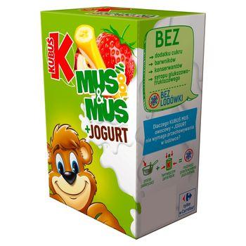 Kubuś Mus 100% 3 x 100 g i Mus + Jogurt 2 x 80 g