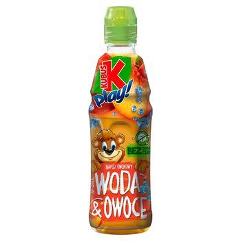 Kubuś Play! Woda i owoce Napój owocowy jabłko brzoskwinia 400 ml