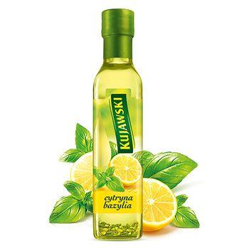 Kujawski Olej rzepakowy z pierwszego tłoczenia z cytryną i bazylią 250 ml