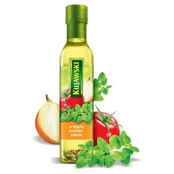Kujawski Olej rzepakowy z pierwszego tłoczenia z oregano pomidorami i cebulą 250 ml