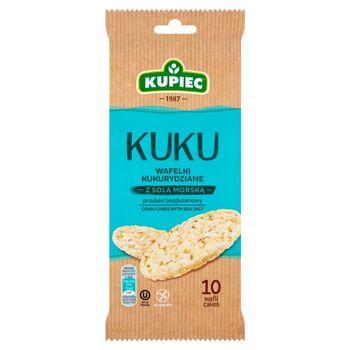 Kupiec Kuku Wafelki kukurydziane z solą morską 36 g (10 sztuk)