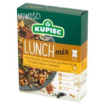 Kupiec Lunch Mix Kasza gryczana kasza jęczmienna soczewica zielona czarnuszka 400 g (4 x 100 g)