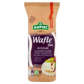 Kupiec Slim Wafle ryżowe z czarnuszką 90 g (18 sztuk)