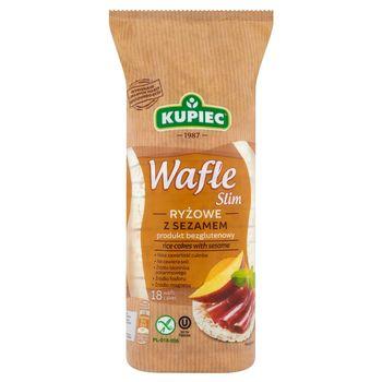 Kupiec Slim Wafle ryżowe z sezamem 90 g (18 sztuk)