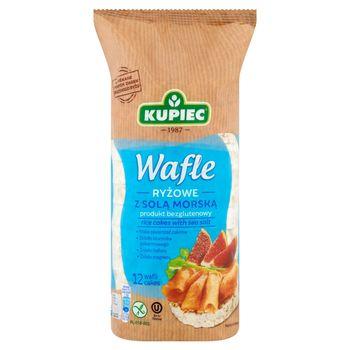 Kupiec Wafle ryżowe z solą morską 120 g (12 sztuk)