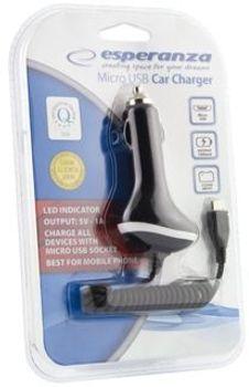 Ładowarka ESPERANZA Ładowarka samochodowa Micro-USB EZ109
