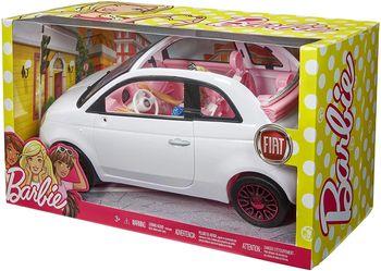 LALKA BARBIE AUTO SAMOCHOD FIAT 500 FVR07 MATTEL