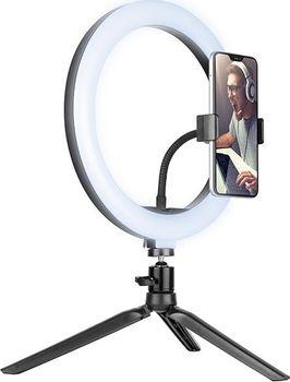Lampa pierścieniowa TRACER ring mini statyw makijaż 26cm
