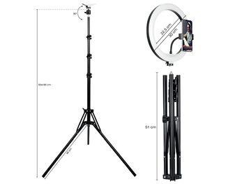 Lampa studyjna Tracer Lampa pierścieniowa RING 30cm TRACER ze statywem 185cm