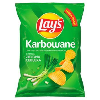 Lay's Chipsy ziemniaczane karbowane o smaku zielona cebulka 210 g