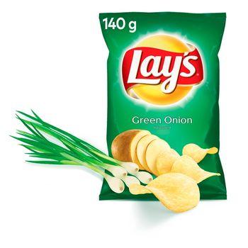 Lay's Chipsy ziemniaczane o smaku zielonej cebulki 140 g