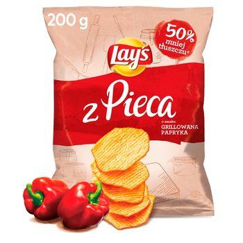 Lay's Oven Baked Pieczone formowane chipsy ziemniaczane o smaku grillowanej papryki 200 g