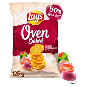 Lay's Oven Baked Pieczone formowane chipsy ziemniaczane o smaku grillowanych warzyw 125 g