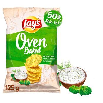Lay's Oven Baked Pieczone formowane chipsy ziemniaczane o smaku jogurtu z ziołami 125 g