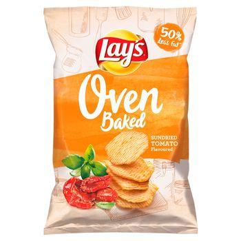 Lay's Oven Baked Pieczone formowane chipsy ziemniaczane o smaku suszonych w słońcu pomidorów 125 g