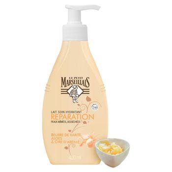 Le Petit Marseillais Mleczko regenerujące do ciała masło shea aloes wosk pszczeli 400 ml