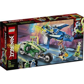 LEGO Ninjago, klocki plastikowe Wyścigówki Jaya i Lloyda 71709