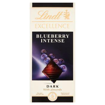 Lindt Excellence Czekolada ciemna z migdałami i kawałkami borówki amerykańskiej 100 g