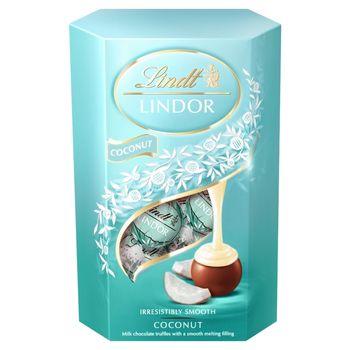 Lindt Lindor Praliny z czekolady mlecznej z kokosowym nadzieniem 200 g