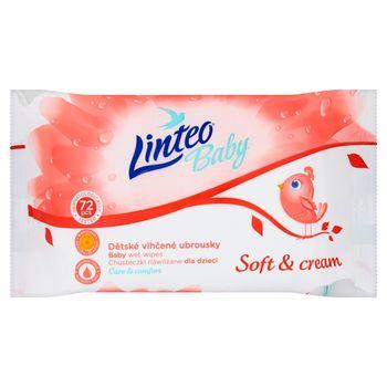 Linteo Baby Soft & Cream Chusteczki nawilżane dla dzieci 72 sztuki