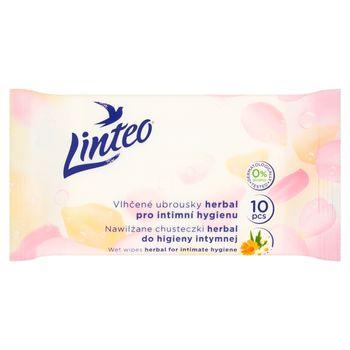 Linteo Herbal Nawilżane chusteczki do higieny intymnej 10 sztuk