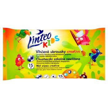 Linteo Kids Chusteczki szkolne nawilżane 15 sztuk