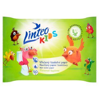 Linteo Kids Nawilżany papier toaletowy 50 sztuk