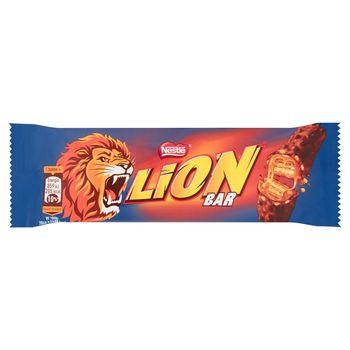 Lion Nadziewany wafel z karmelem i płatkami pszennymi w polewie kakaowej 42 g