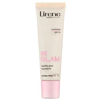 Lirene Be Glam Natural Rose No 10 Rozświetlający fluid z guaraną 30 ml