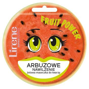 Lirene Fruit Power Żelowa maseczka do twarzy arbuzowe nawilżenie 10 ml