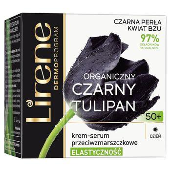 Lirene Organiczny czarny tulipan 50+ Krem-serum przeciwzmarszczkowe na dzień 50 ml