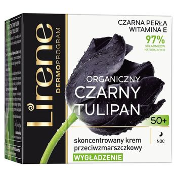 Lirene Organiczny czarny tulipan 50+ Skoncentrowany krem przeciwzmarszczkowy na noc 50 ml