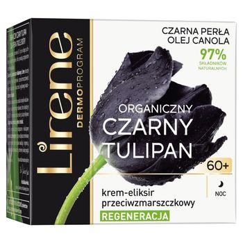 Lirene Organiczny czarny tulipan 60+ Krem-eliksir przeciwzmarszczkowy na noc 50 ml
