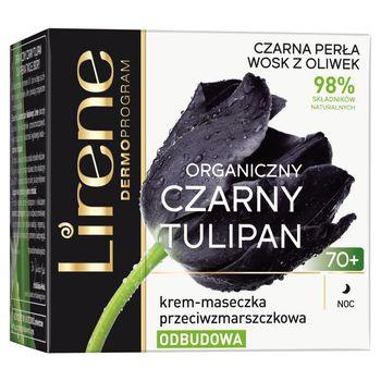 Lirene Organiczny czarny tulipan 70+ Krem-maseczka przeciwzmarszczkowa na noc 50 ml