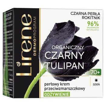 Lirene Organiczny czarny tulipan 70+ Perłowy krem przeciwzmarszczkowe na dzień 50 ml
