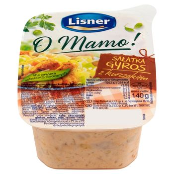 Lisner O Mamo! Sałatka gyros z kurczakiem 140 g