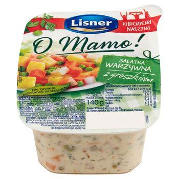 Lisner O Mamo! Sałatka warzywna z groszkiem 140 g